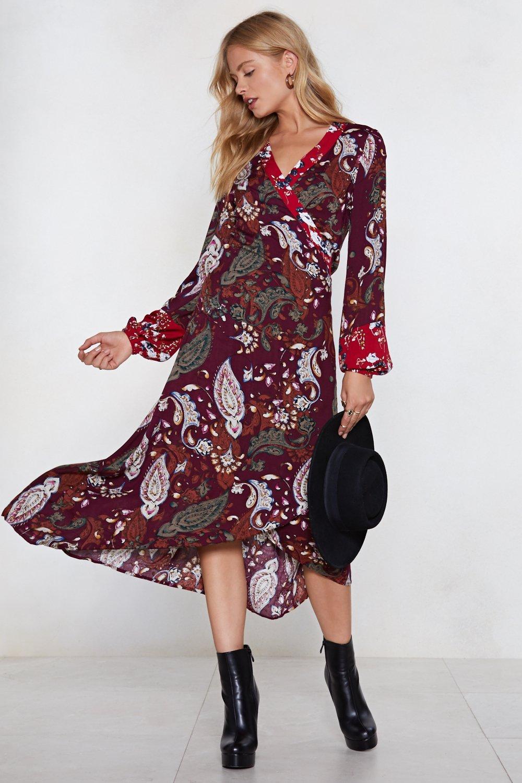 a95dd66fa427 You Send Me Paisley Midi Dress