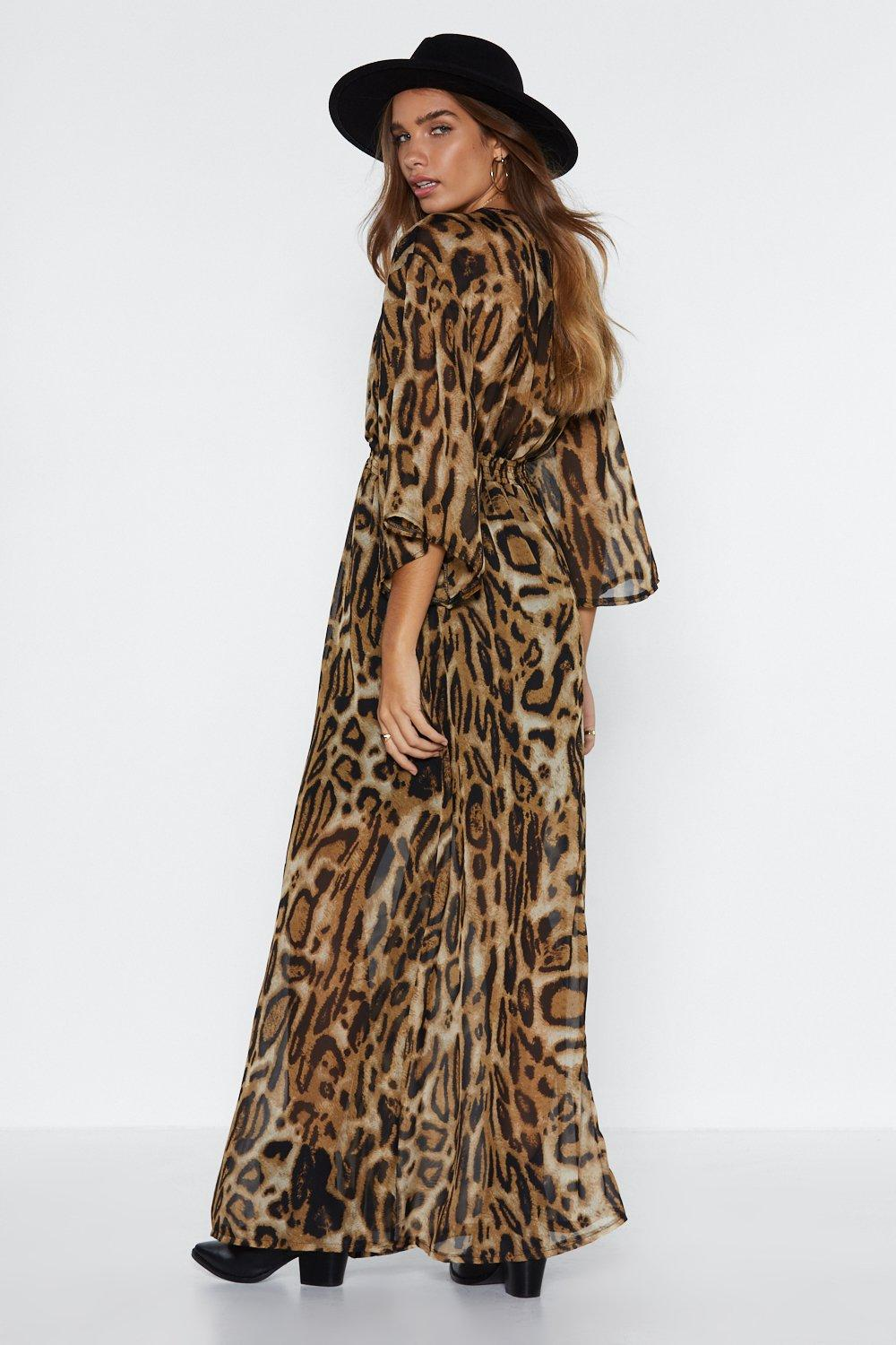 6f5b6a9624 Womens Brown A Love for Leopard Maxi Dress