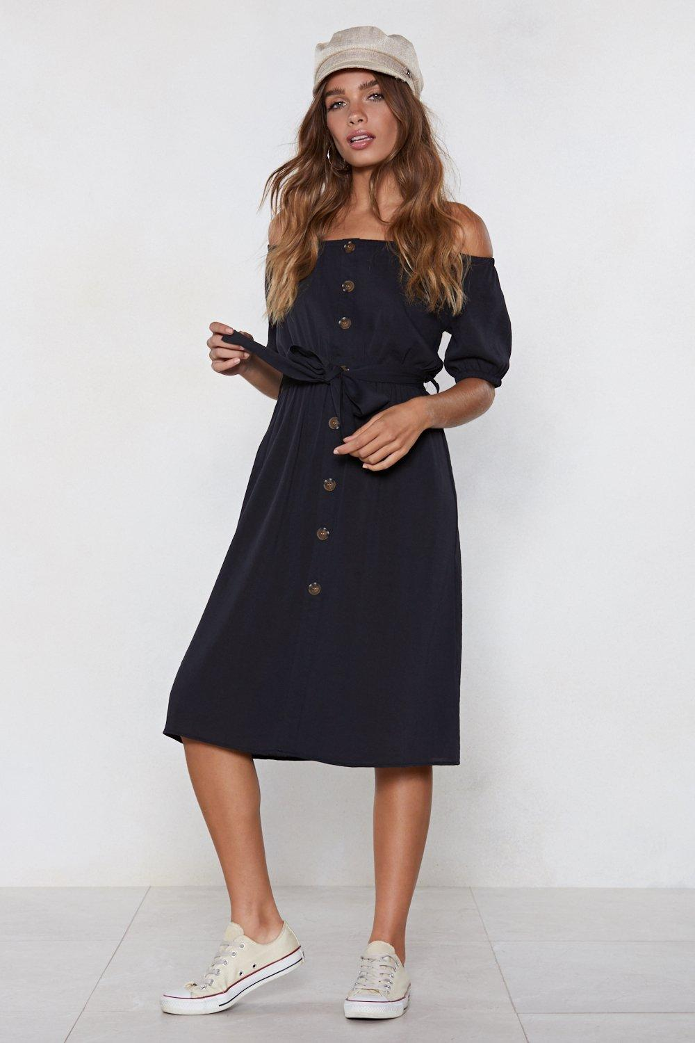 e4d3652675dc All Bets Are Off-the-Shoulder Dress   Shop Clothes at Nasty Gal!