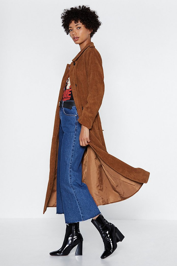 good reputation a few days away top-rated genuine Cover Ground Corduroy Trench Coat | Shop Clothes at Nasty Gal!