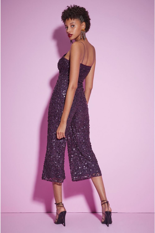 1be079e04dc421 Womens Purple Nasty Gal Studio You Should Be Dancing Sequin Jumpsuit.