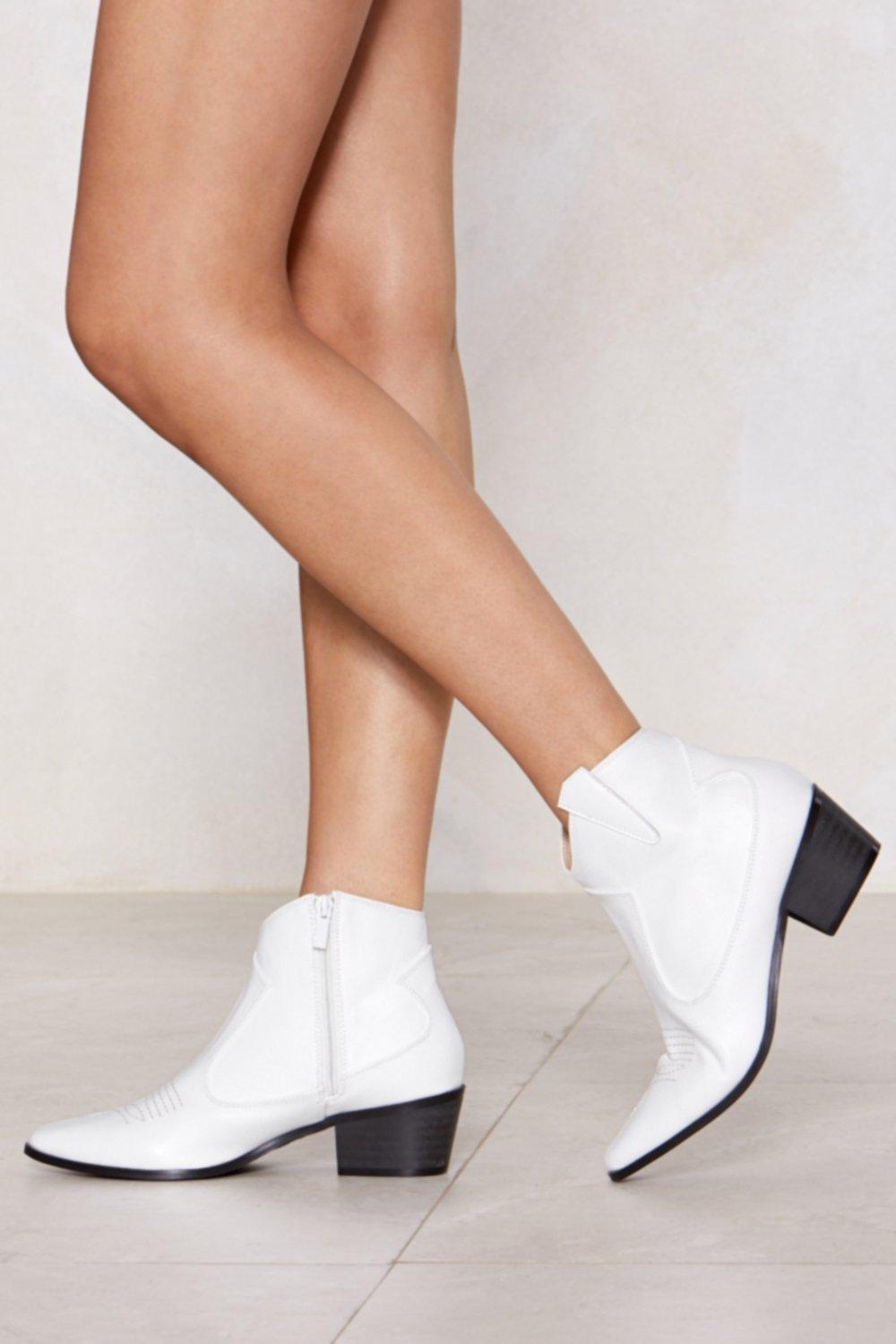 02921238d2f Patent Faux Leather Western Ankle Boots | Shop Clothes at Nasty Gal!