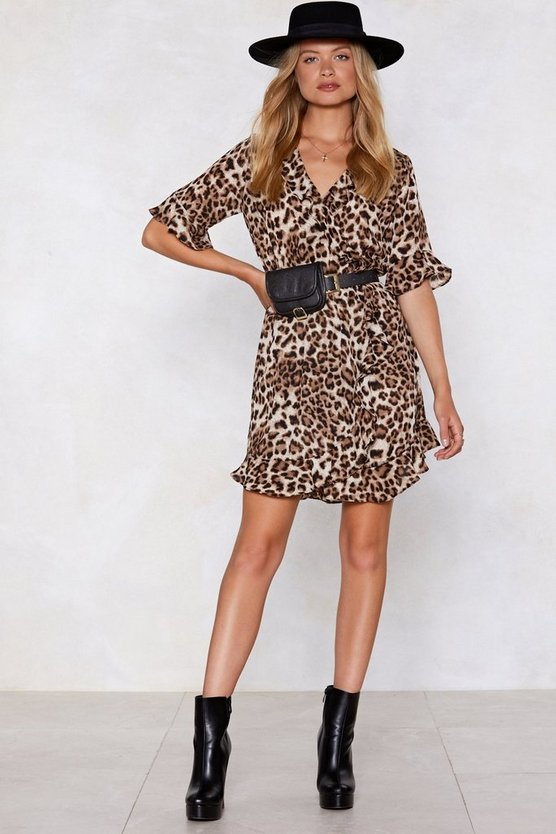 Up To Scratch Leopard Dress by Nasty Gal