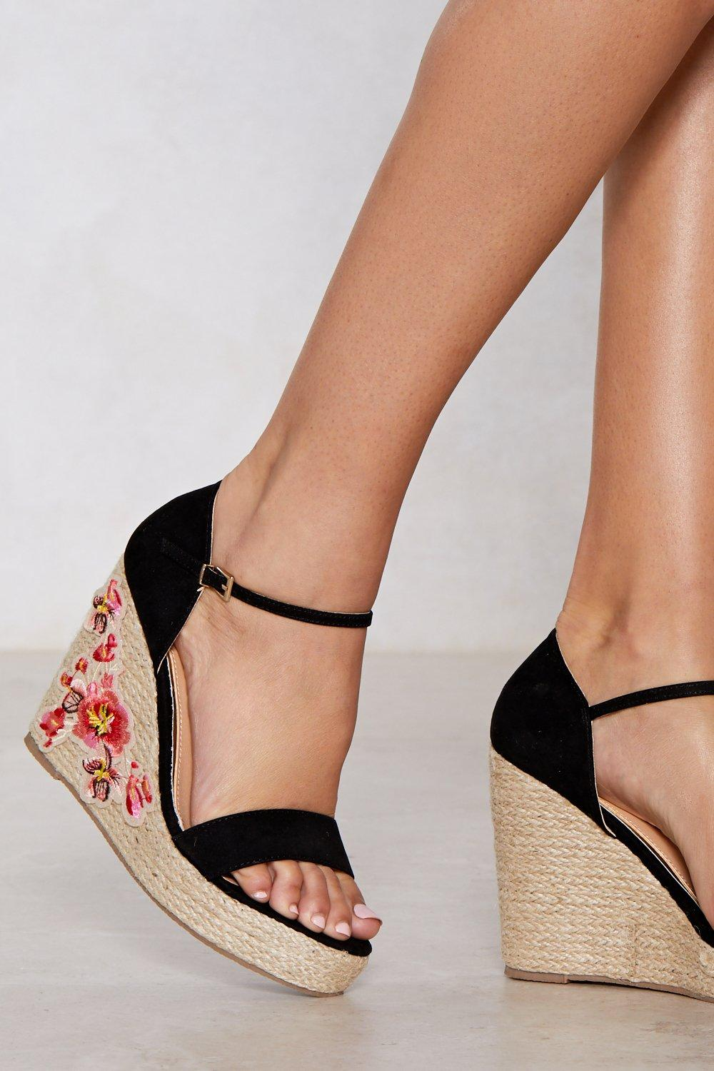 buy cheap shop visit new for sale More of a Grower Embroidered Wedge free shipping visa payment I7fuG