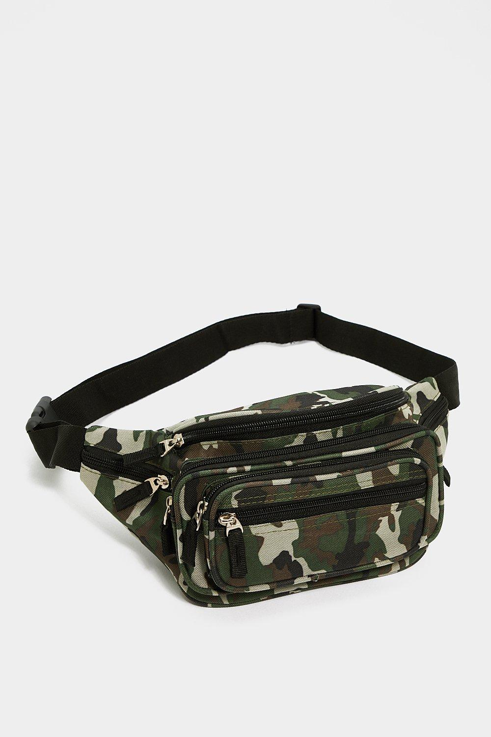 WANT You Know the Drill Camo Fanny Pack  57610e4a5