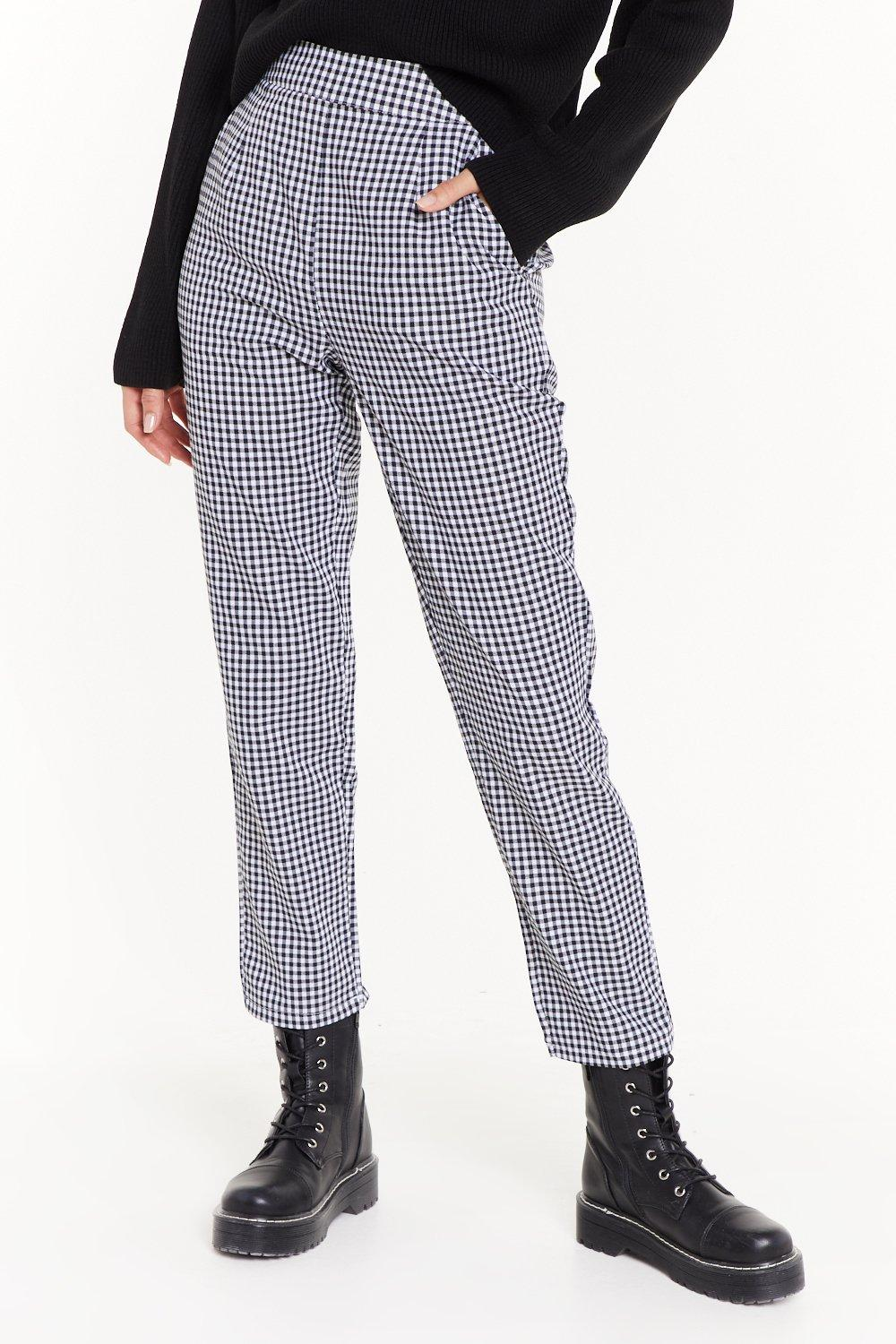 68c9bef98083 Gingham Up High-Waisted Pants | Shop Clothes at Nasty Gal!