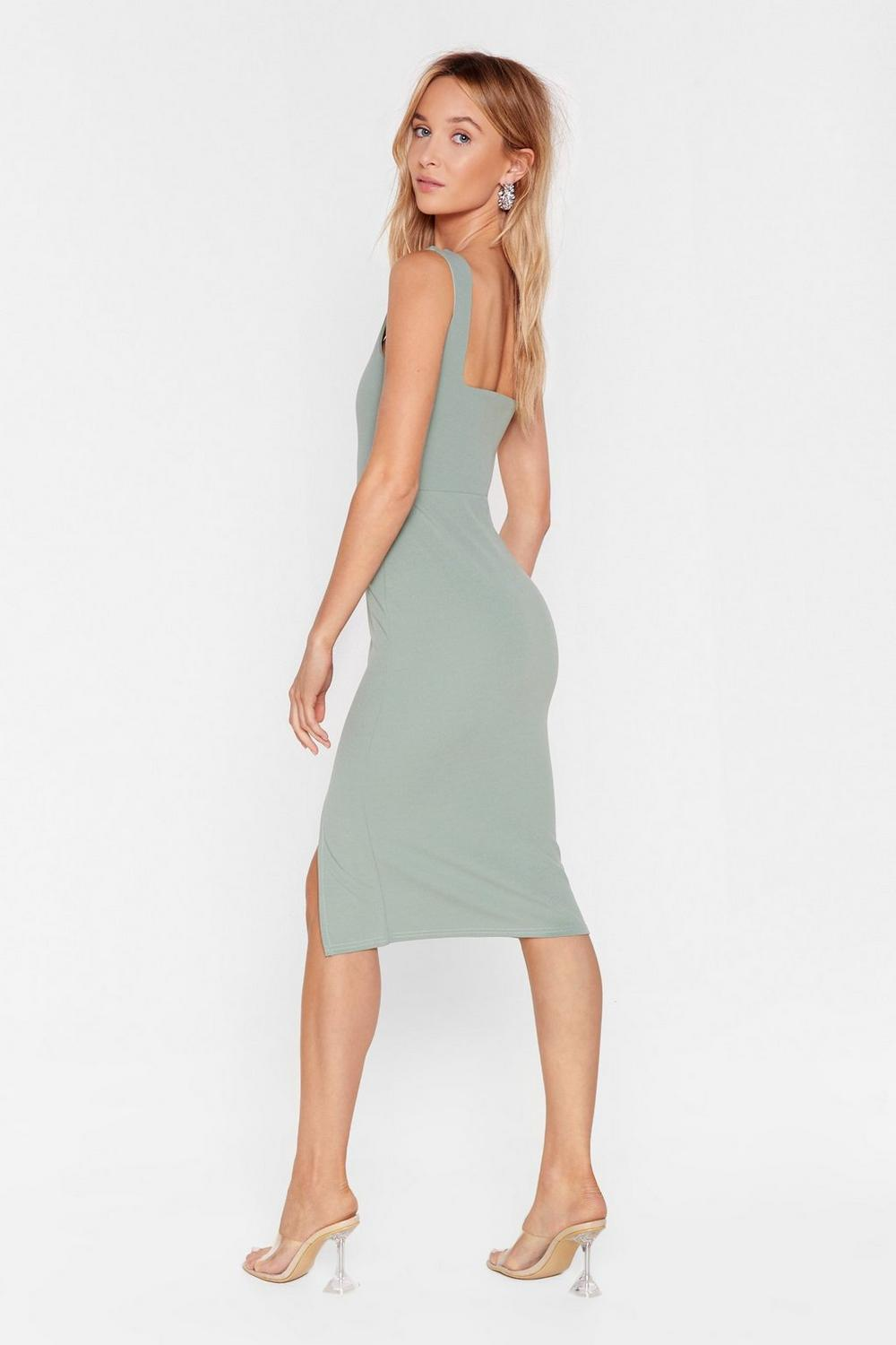 54512a9318a Womens Sage Squarin  to Go Midi Dress