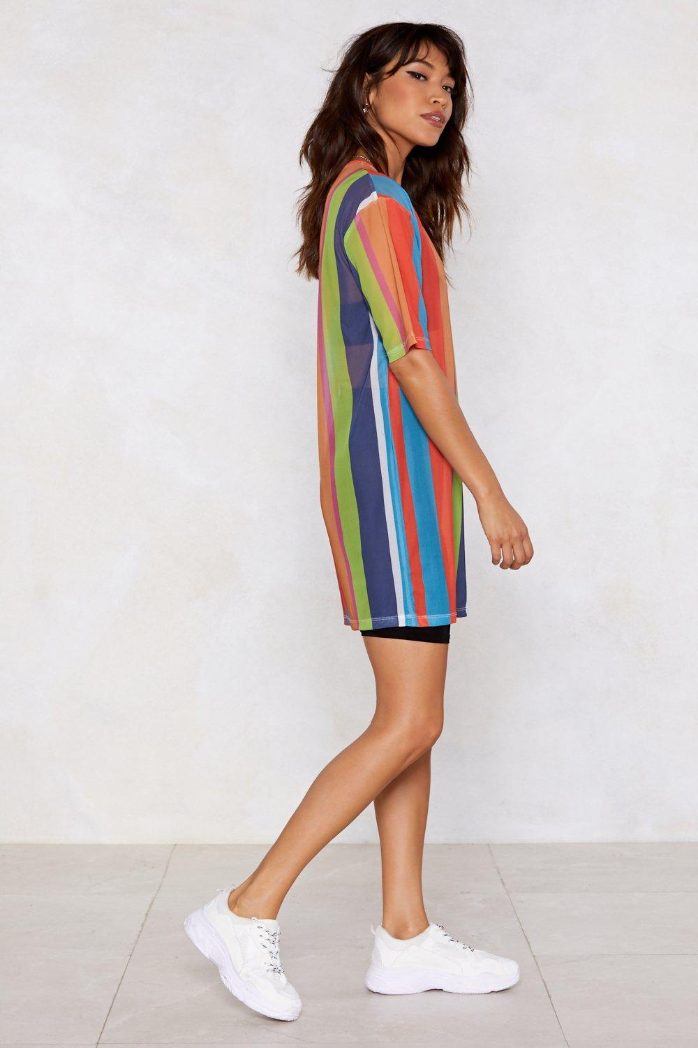 ccde094ccf0e4 As High As the Rainbow Striped Dress | Shop Clothes at Nasty Gal!