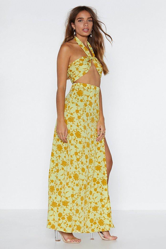 online for sale factory outlets best wholesaler Leaf Me Two It Halter Top and Maxi Skirt Set | Nasty Gal