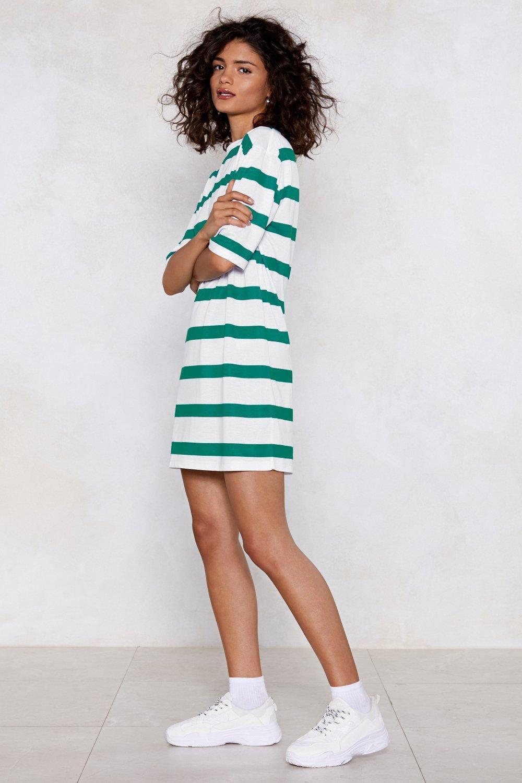 bc271b5a8f44 Straight Talk Striped Tee Dress | Shop Clothes at Nasty Gal!