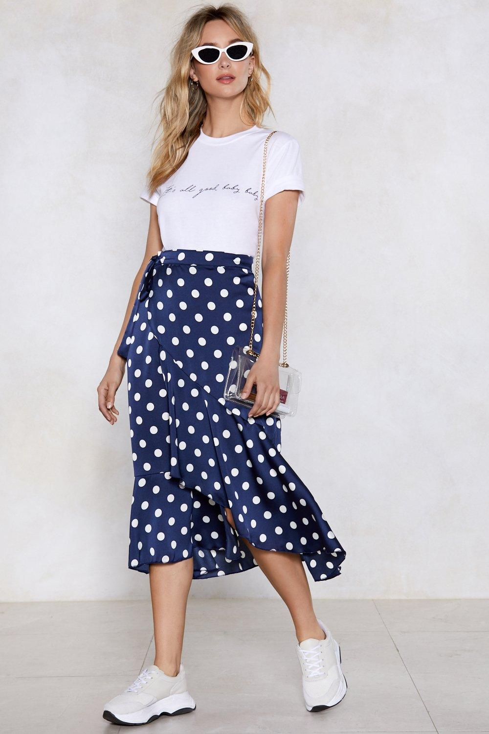 2019 year for girls- Skirt dot polka with bow