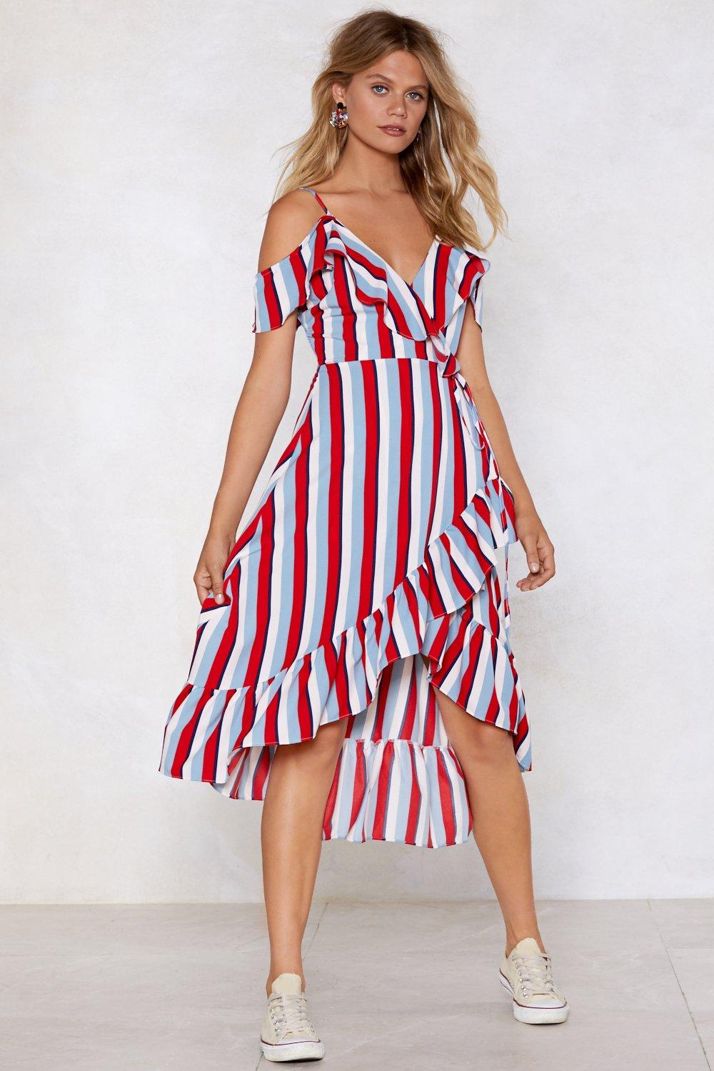 630f8acc5459 Stripe Back Round Wrap Dress   Shop Clothes at Nasty Gal!