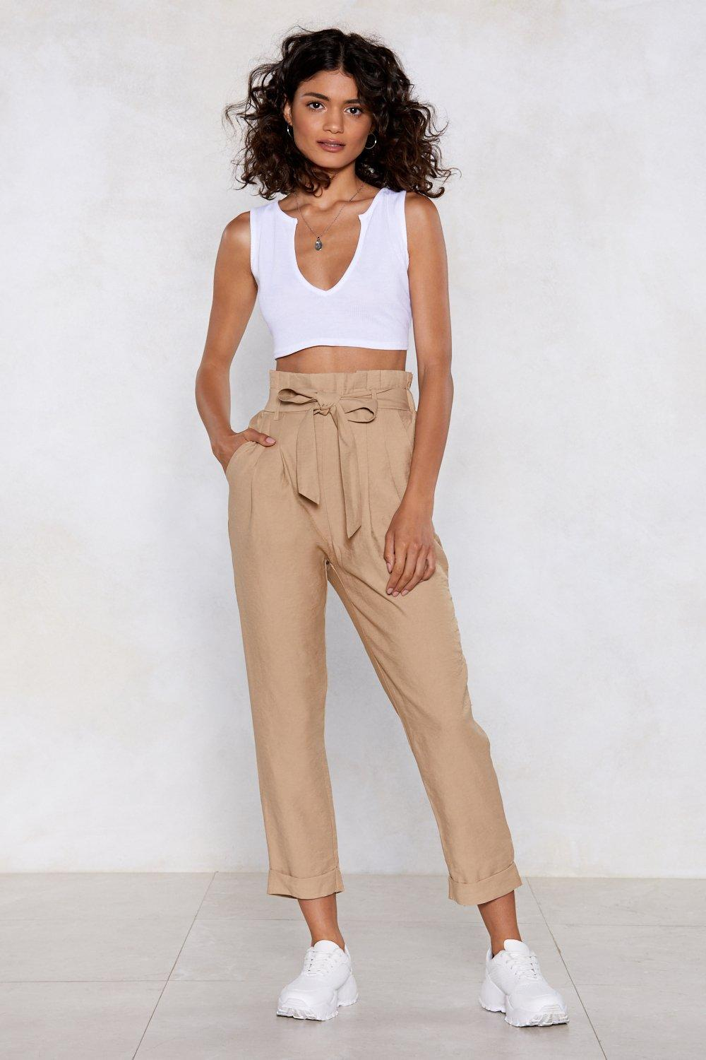 d8e3acb51b2654 Get In Linen Paperbag Pants | Shop Clothes at Nasty Gal!