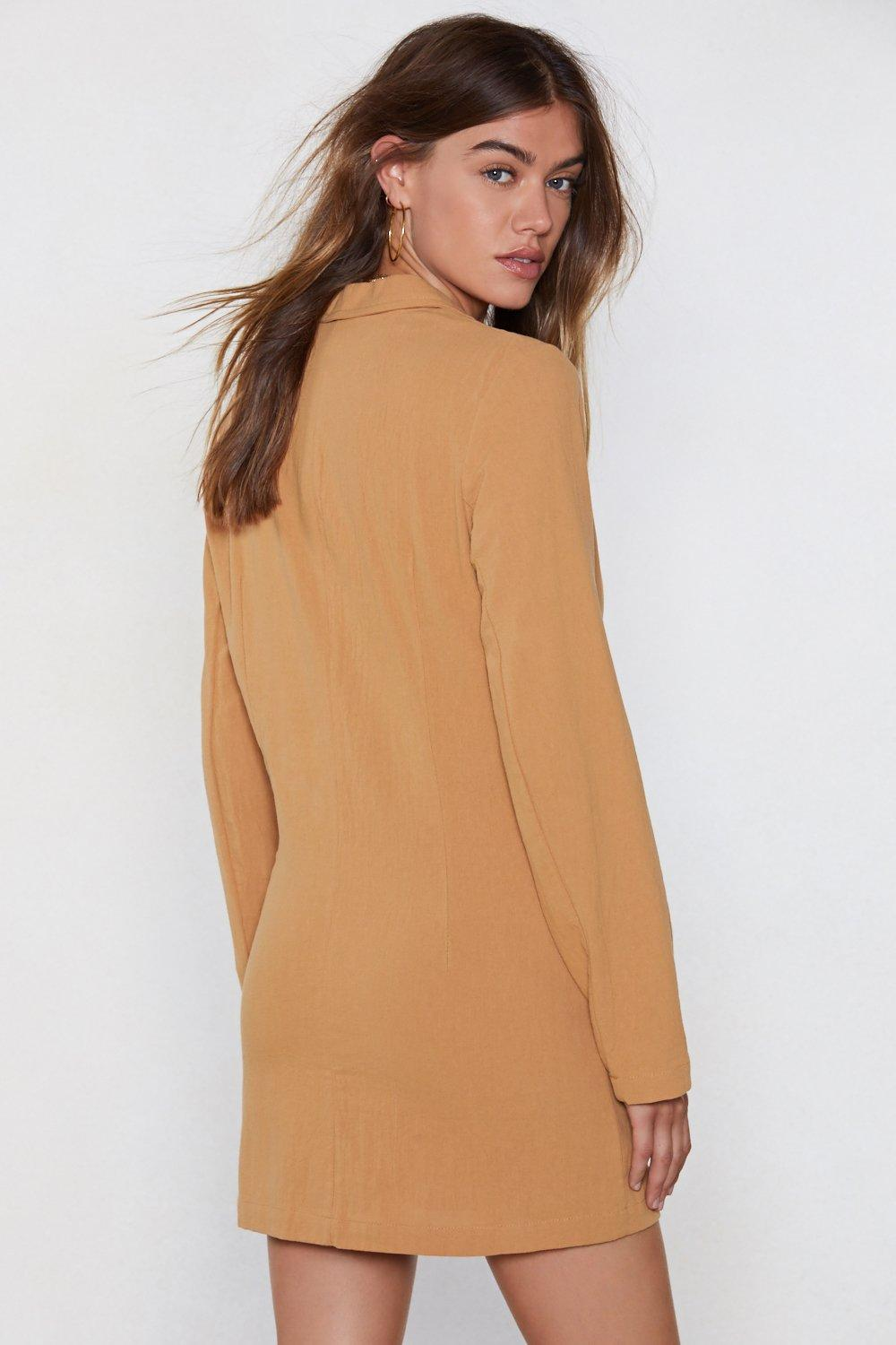 3bf94c5100372 Womens Mustard It Suits You Blazer Dress. Hover to zoom