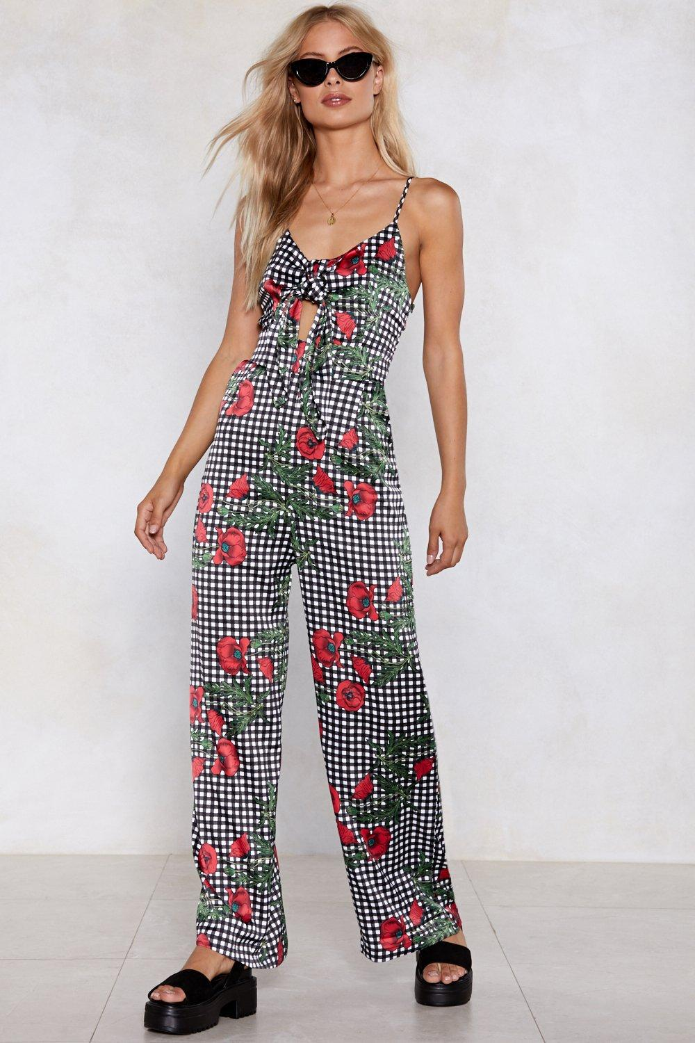 03b2e3faa78 Mother Rose Gingham Jumpsuit