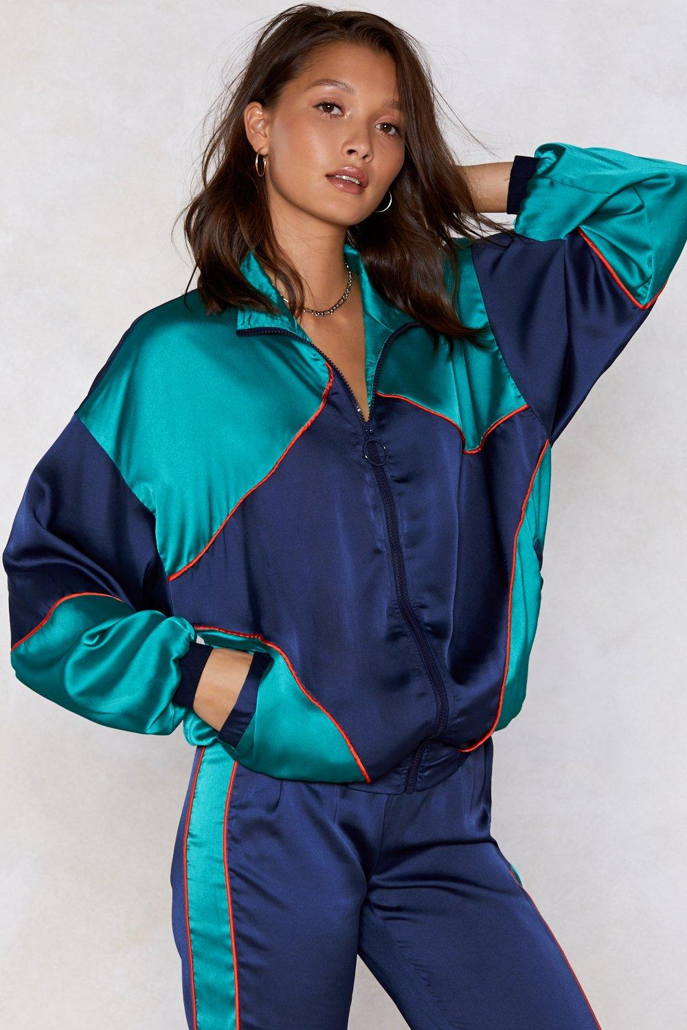 b011746dcb7 Hover to zoom · Lost Track of Time Satin Jacket