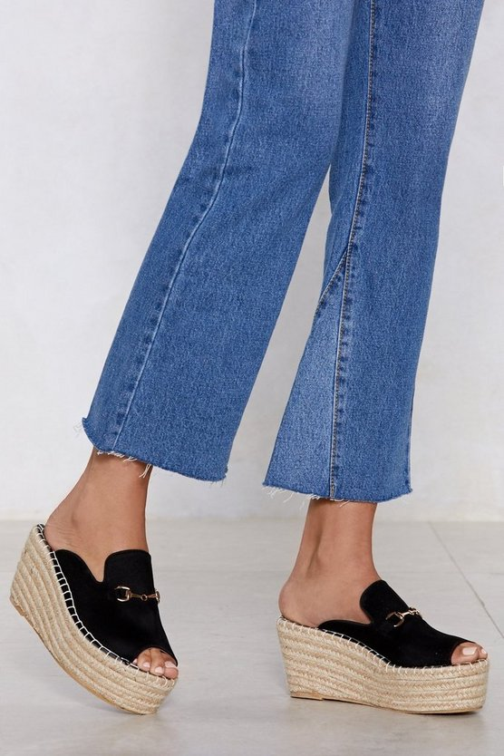 Up And At 'em Espadrille Mule by Nasty Gal