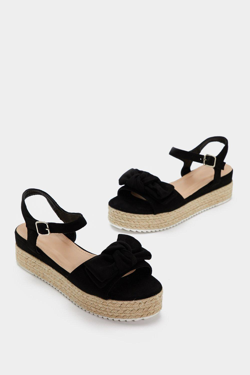 456ae2ddba2e Welcome to the Bow Down Espadrille Sandal