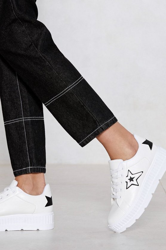 Anything Is Possible Star Sneaker by Nasty Gal