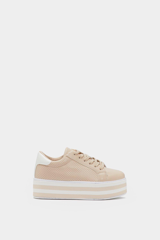 be9a45335 Stripe Back at It Platform Sneaker | Shop Clothes at Nasty Gal!