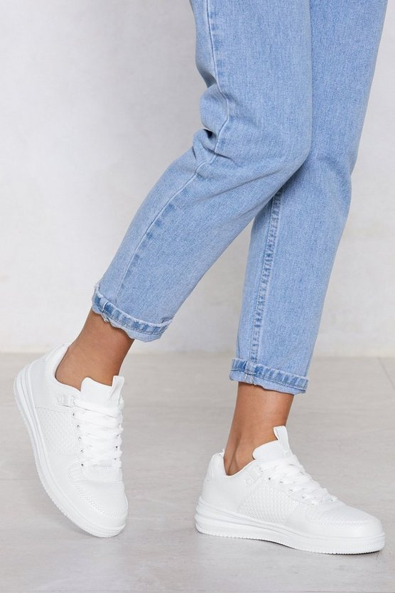 Learn The Basics Vegan Leather Sneaker by Nasty Gal