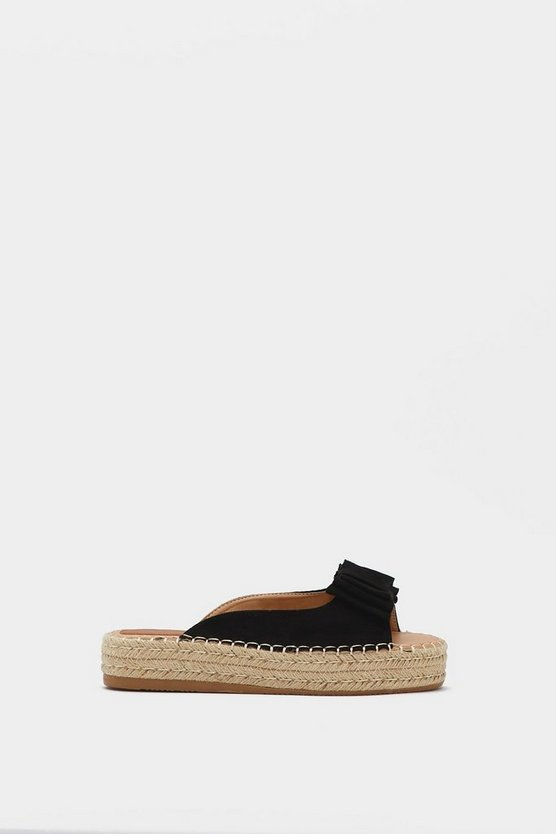 Oh Bow You Don't Espadrille Mule by Nasty Gal