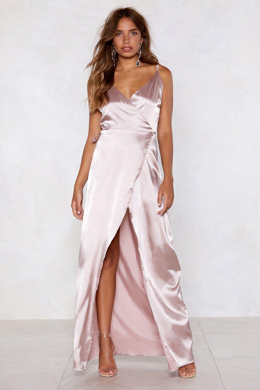 8e689d06a7 That s a Wrap Satin Dress