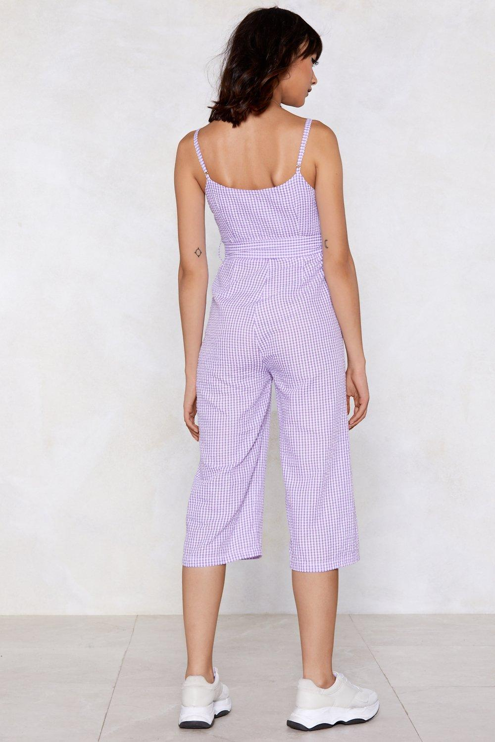 859eb483c84 It s Only Square Gingham Jumpsuit