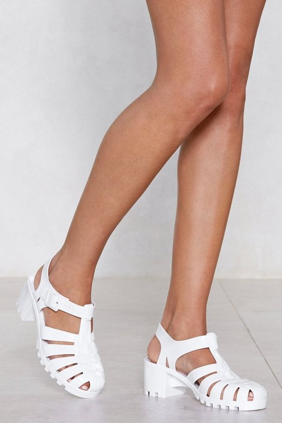 Don't Be Jelly Heeled Sandal by Nasty Gal
