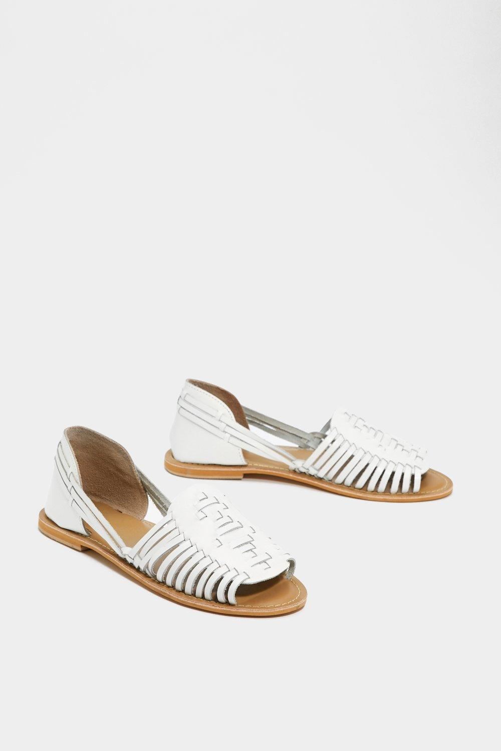 Woven You Long Time Leather Sandal clearance reliable clearance huge surprise cheap sale fast delivery cheap sale new arrival S5hjX