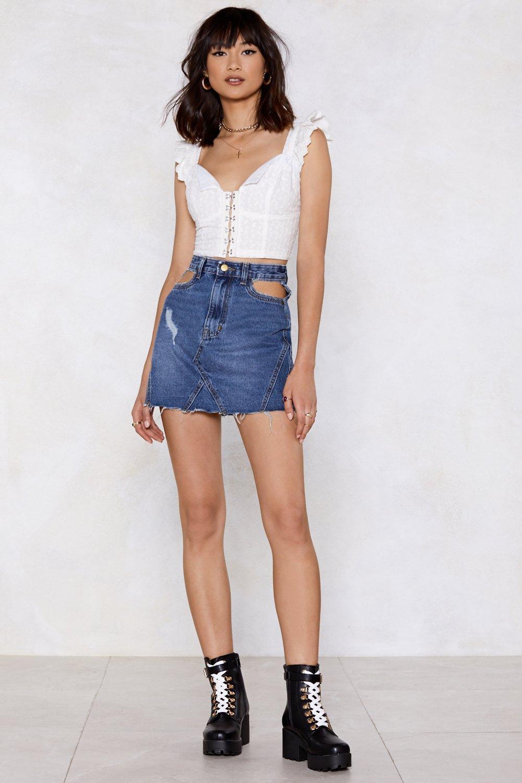 4eb7c672d8 Pocket Down Distressed Denim Skirt | Shop Clothes at Nasty Gal!