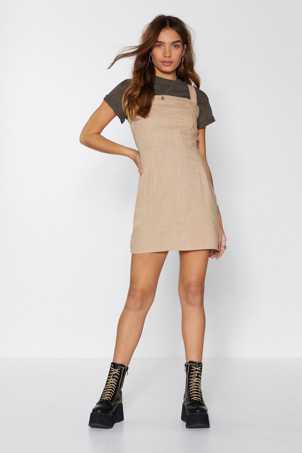 b2832a1bc96 Womens Sand Such a Square Mini Dress. Hover to zoom