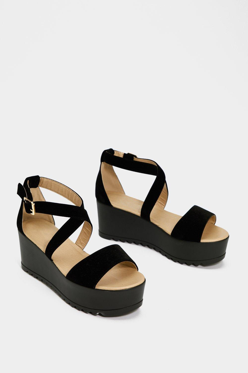 Don't Cross Me Faux Suede Sandal cheap high quality outlet how much 2014 unisex for sale sW4pTUb79