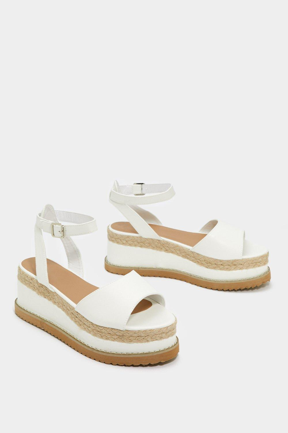 7913bbe68 Womens White If You Can t Have It All Espadrille Platform Sandal