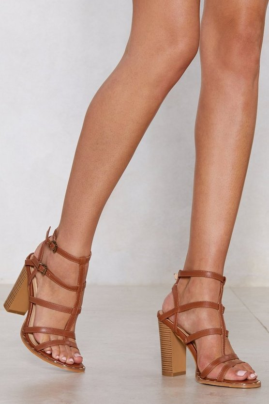 Can't Cage Me Heeled Sandal by Nasty Gal