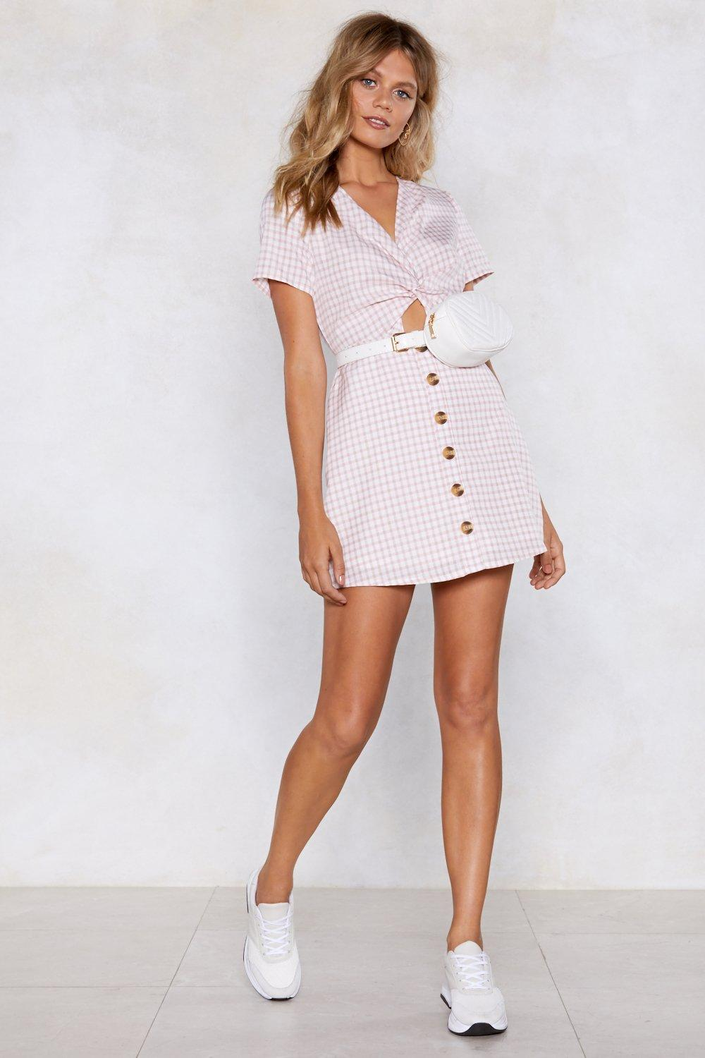 e0e7e814f08 Womens Pink Unbothered Gingham Dress