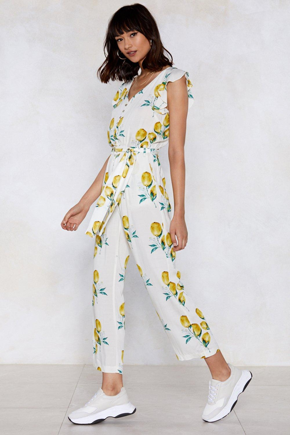 487605a17c When Life Gives You Lemons Ruffle Jumpsuit