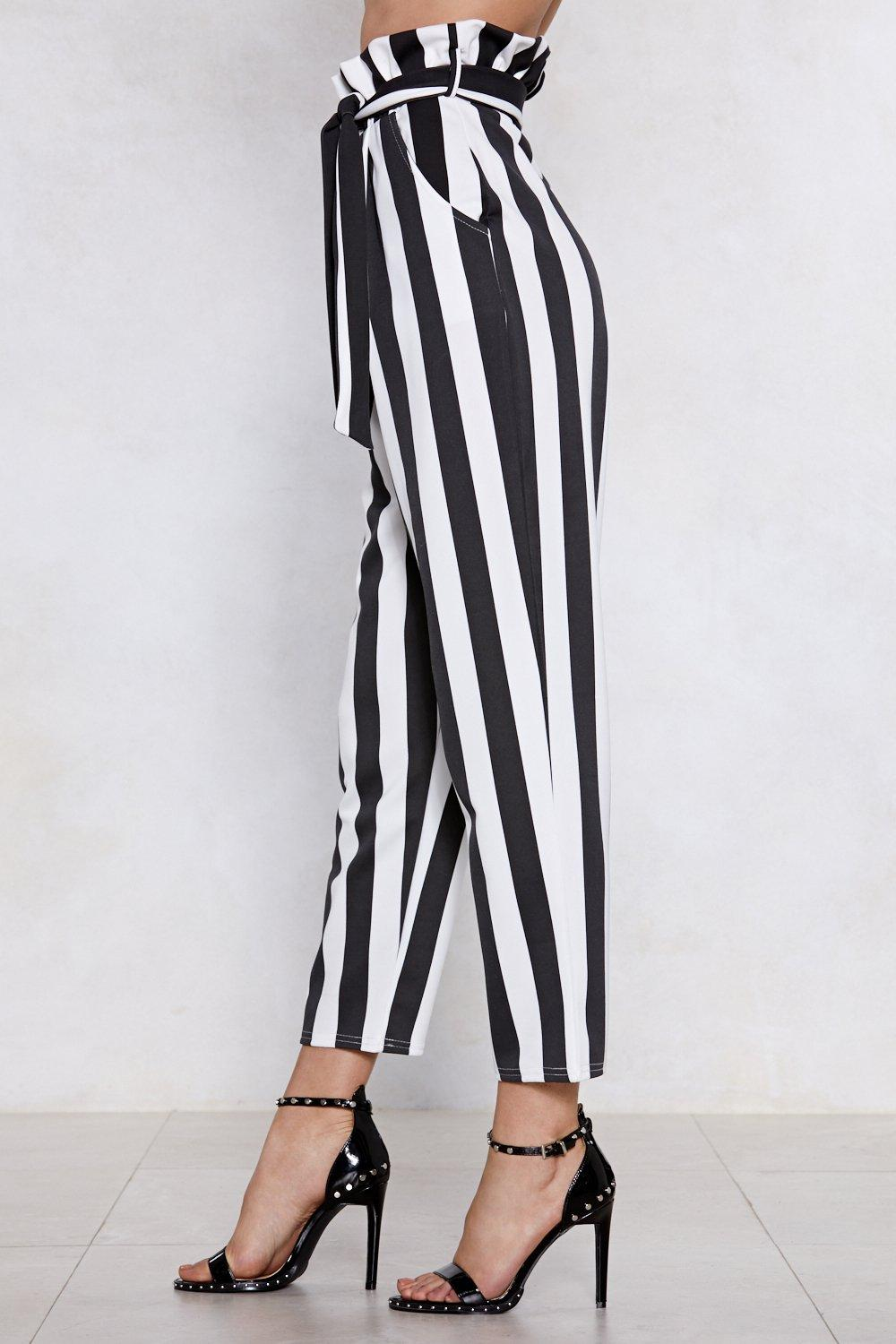 40f929791 Strong Silent Stripe Paperbag Pants | Shop Clothes at Nasty Gal!
