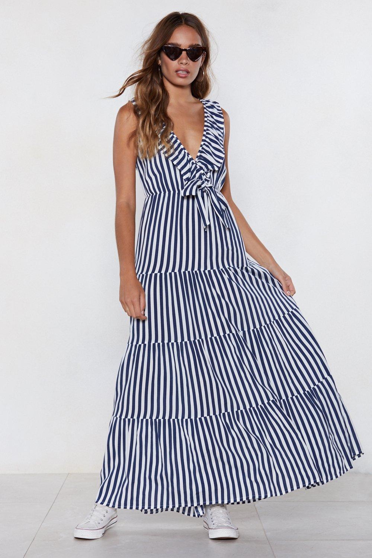 746bf2fa13e Womens Navy Bow a Long Way Striped Dress