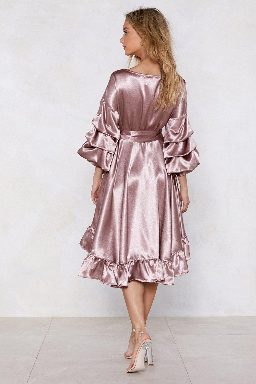 dc5bfa0120fa2 Wearing and Tiering Satin Dress