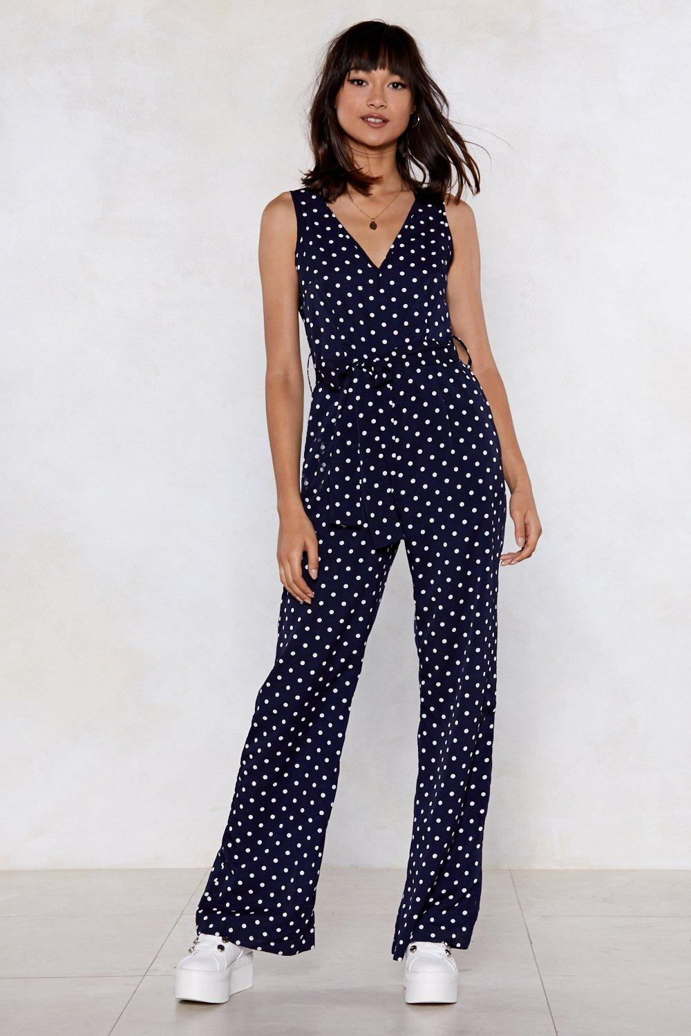 The incorrect polka dot jumpsuit excellent