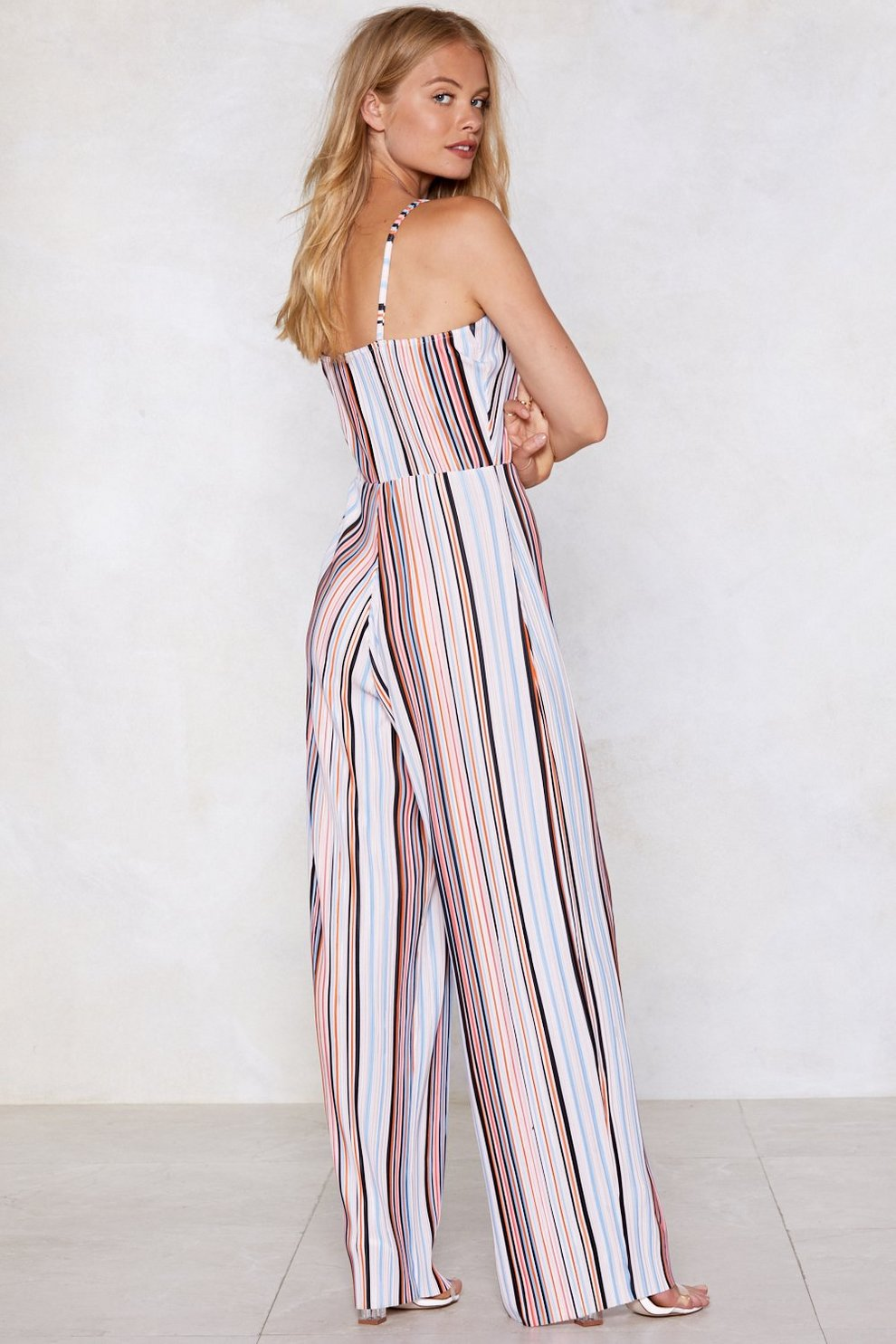45888d515b1e Stayin  Alive Striped Jumpsuit. Click to expand