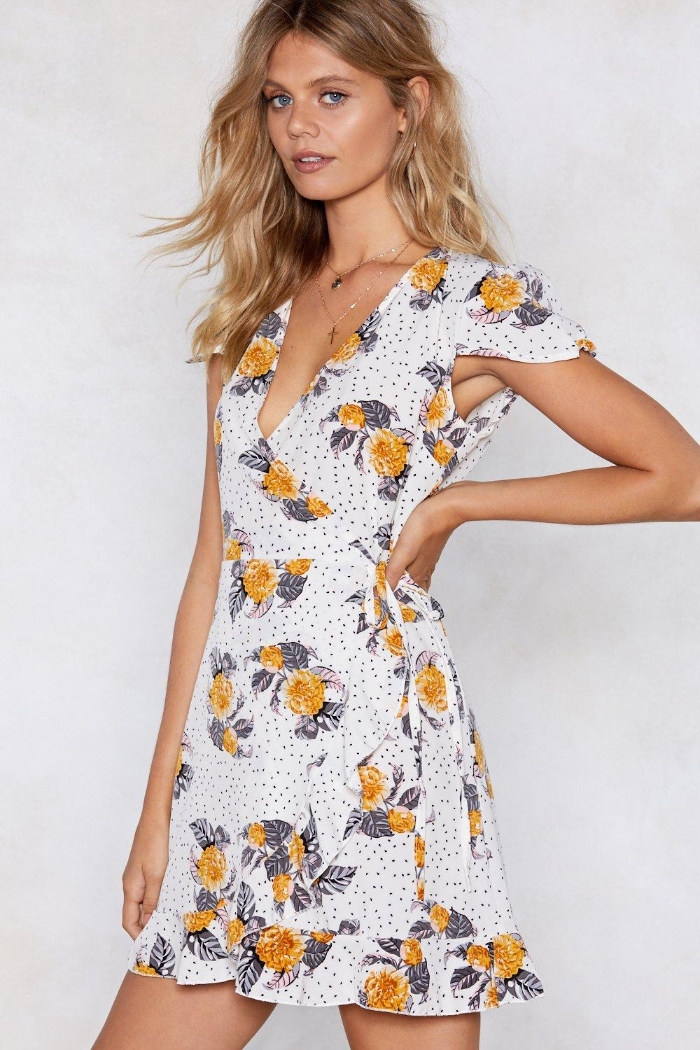 ac5210b2c Flowers for All Hours Wrap Dress