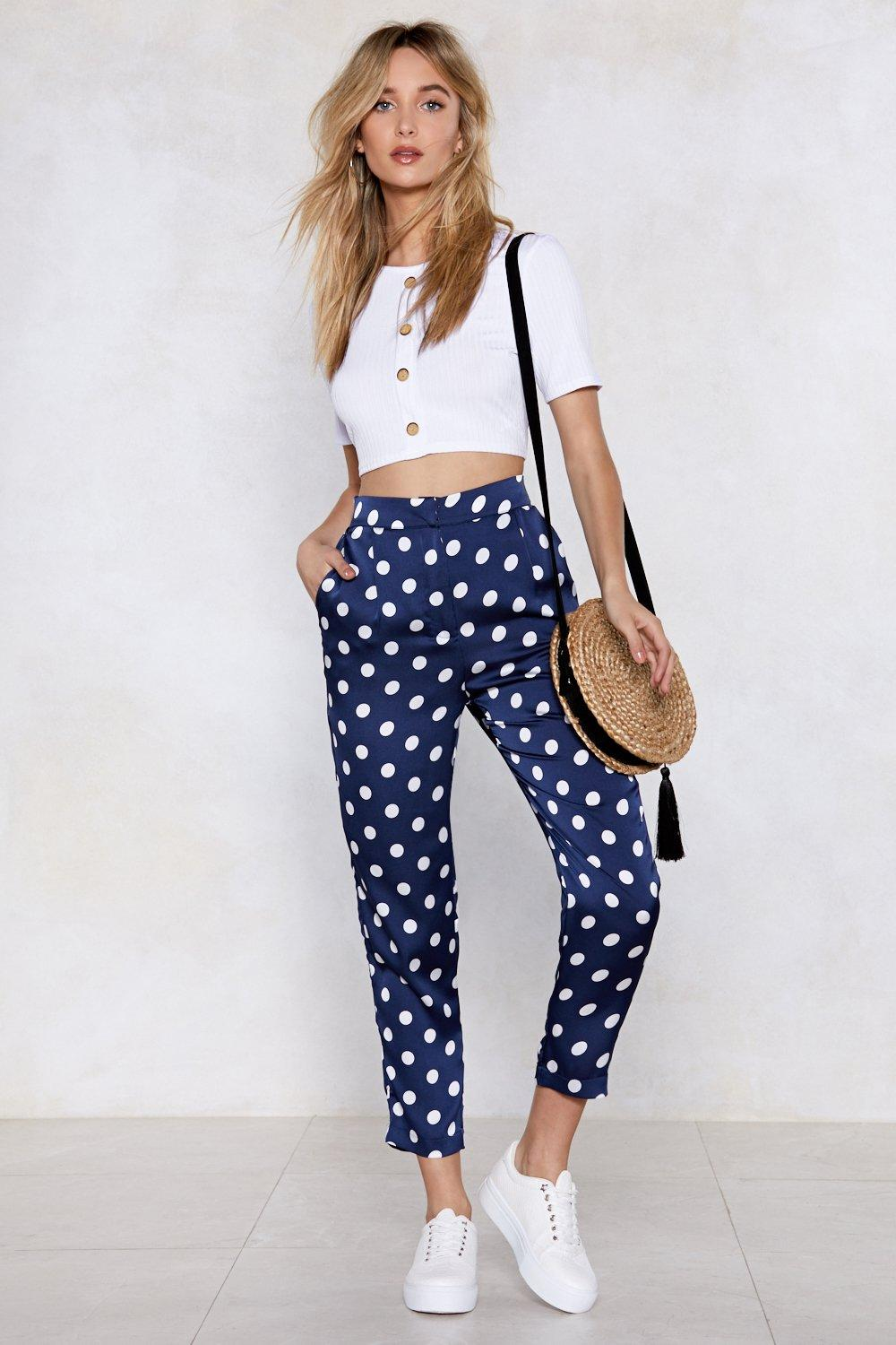 a1ea1f7655 Come Round My Way Polka Dot Pants | Shop Clothes at Nasty Gal!