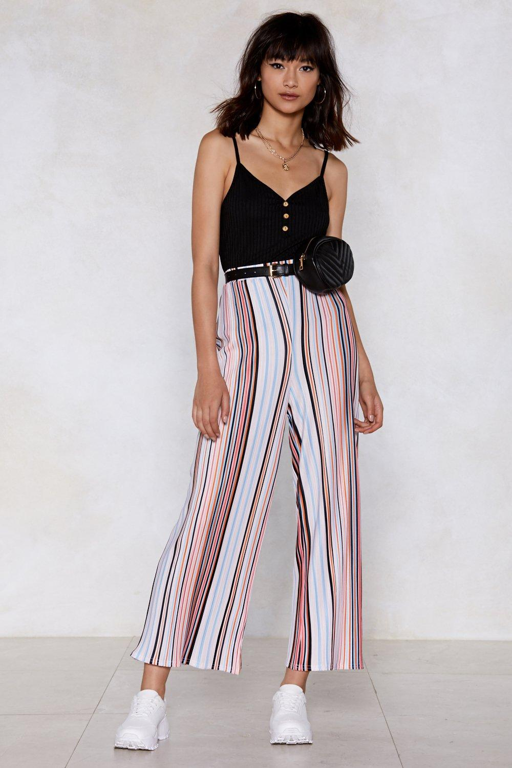 4e7157f25b9 You Should Have Racing Stripes Culottes. Hover to zoom