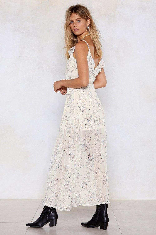 805734bcd29 Split Wrap Floral Maxi Dress | Shop Clothes at Nasty Gal!