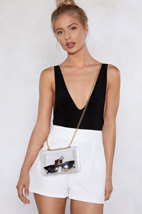 Want See For Yourself Clear Crossbody Bag by Nasty Gal