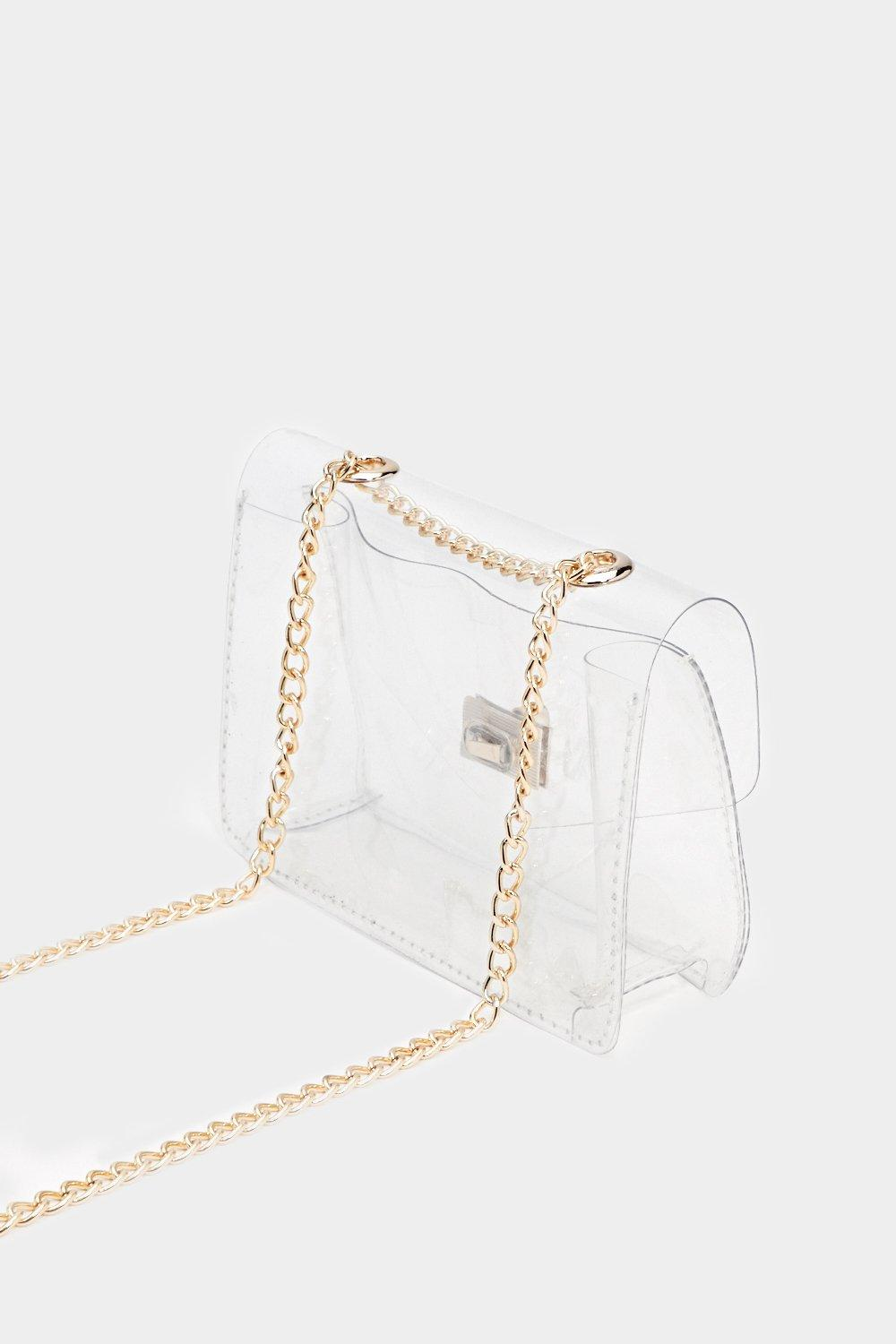 4528bb3a0c03 WANT See For Yourself Clear Crossbody Bag | Shop Clothes at Nasty Gal!