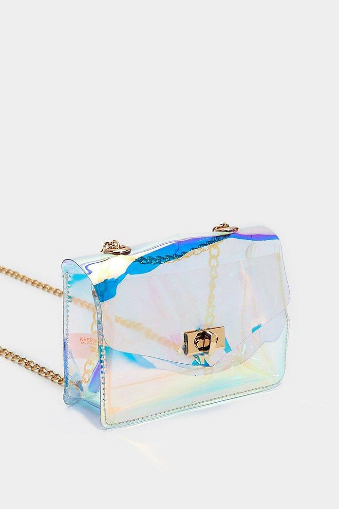 Want Intergalactic Holographic Crossbody Bag Nasty Gal