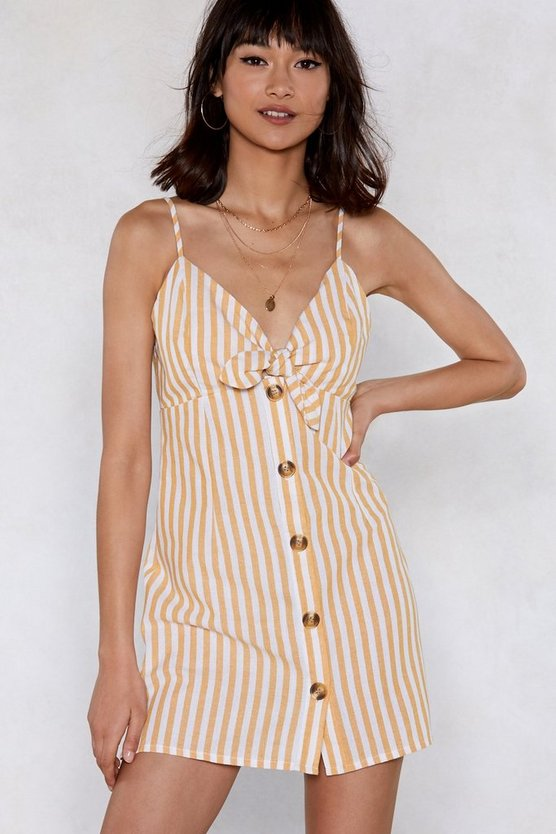 Having None Of It Striped Dress by Nasty Gal
